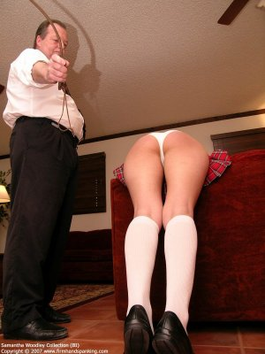 Firm Hand Spanking - Tawse On White Panties - image 6