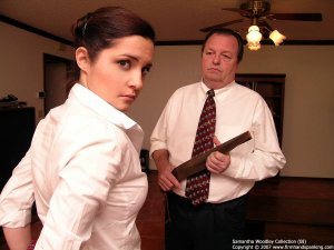 Firm Hand Spanking - Tawse On White Panties - image 11