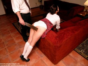 Firm Hand Spanking - Tawse On White Panties - image 8