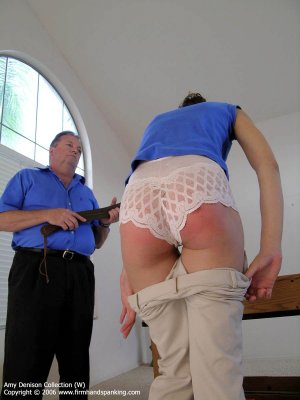 Firm Hand Spanking - Strapping On Lace Panties - image 13