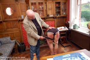 Firm Hand Spanking - 31.03.2008 - Bare Bottom Strapping - image 1