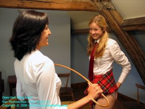Firm Hand Spanking - Caned On White Panties - image 7
