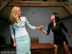 Firm Hand Spanking - 06.10.2006 - Caning On Sheer Panties - image 6
