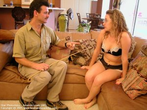 Firm Hand Spanking - 05.08.2005 - Caning On Sheer Panties - image 11