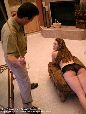 Firm Hand Spanking - 05.08.2005 - Caning On Sheer Panties - image 15