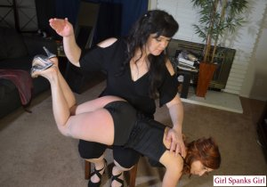 Girl Spanks Girl - Paying For The Crime Part 2 - image 9