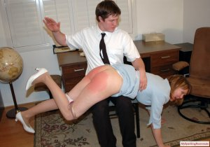 My Spanking Roommate - Clare Spanked For Harrassment - image 7