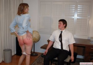 My Spanking Roommate - Clare Spanked For Harrassment - image 10