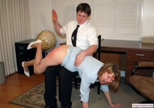 My Spanking Roommate - Clare Spanked For Harrassment - image 1
