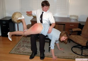 My Spanking Roommate - Clare Spanked For Harrassment - image 9