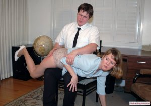 My Spanking Roommate - Clare Spanked For Harrassment - image 14