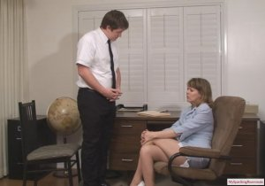 My Spanking Roommate - Clare Spanked For Harrassment - image 13