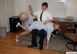 My Spanking Roommate - Clare Spanked For Harrassment - image 16