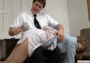 My Spanking Roommate - Clare Spanked For Harrassment - image 12