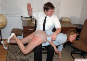 My Spanking Roommate - Clare Spanked For Harrassment - image 8