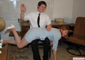 My Spanking Roommate - Clare Spanked For Harrassment - image 17