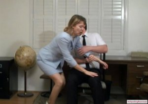 My Spanking Roommate - Clare Spanked For Harrassment - image 11