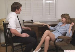 My Spanking Roommate - Clare Spanked For Harrassment - image 15