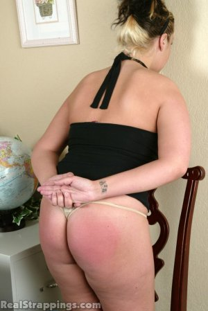 Real Strappings - Isabel Is Strapped Over The Desk - image 6