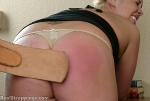Real Strappings - Isabel Is Strapped Over The Desk - image 5