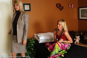 OTK Spankings - Ms. Burns Wakes Riley For Her Spanking - image 4