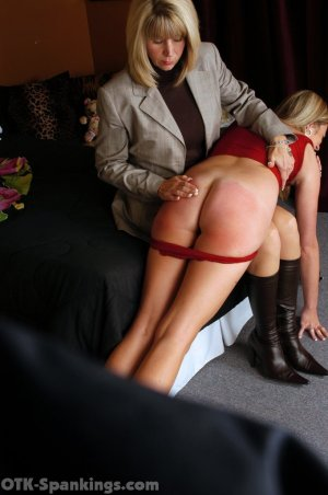 OTK Spankings - Ms. Burns Wakes Riley For Her Spanking - image 2