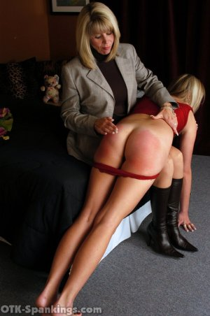 OTK Spankings - Ms. Burns Wakes Riley For Her Spanking - image 5