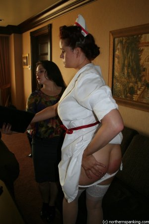 Northern Spanking - Travelling Disciplinarian & A Naughty Nurse - Full - image 4