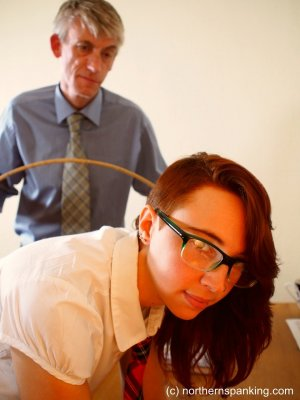 Northern Spanking - Anabelle Caned At School - image 3