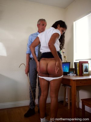 Northern Spanking - A Caning For Cleo - image 1