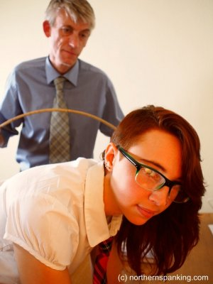 Northern Spanking - Anabelle Caned At School - image 7