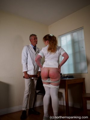 Northern Spanking - The Dedication Of The On-call Nurse - image 16