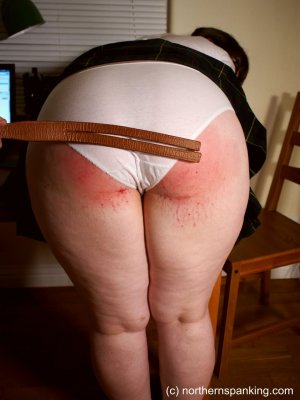 Northern Spanking - Cece Gets The Strap - image 6
