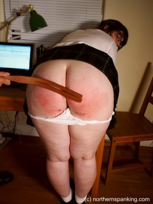 Northern Spanking - Cece Gets The Strap - image 10