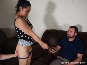 Northern Spanking - Not In Front Of My Friends! - image 1