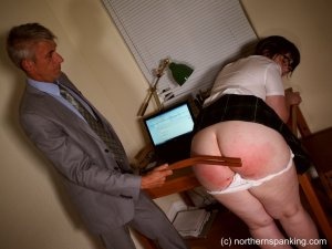 Northern Spanking - Cece Gets The Strap - image 3