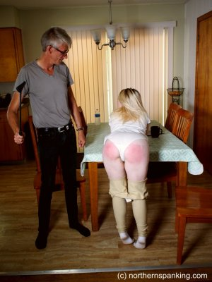 Northern Spanking - Bratty Bambi Horsewhipped - image 9