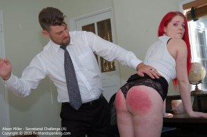 Firm Hand Spanking - Secretarial Challenge - A - image 1