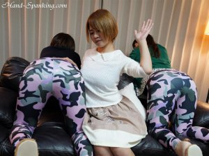 Hand Spanking - Double Spanking In Leggings - image 6