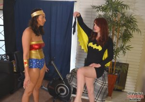Spanking Veronica Works - Batgirl Spanks Wonder Woman - image 2
