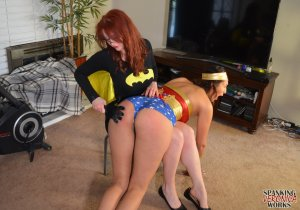 Spanking Veronica Works - Batgirl Spanks Wonder Woman - image 5