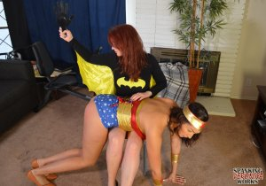 Spanking Veronica Works - Batgirl Spanks Wonder Woman - image 7