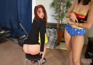 Spanking Veronica Works - Wonder Woman Spanks Batgirl - image 7