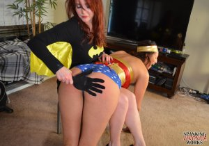 Spanking Veronica Works - Batgirl Spanks Wonder Woman - image 9