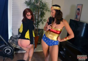 Spanking Veronica Works - Wonder Woman Spanks Batgirl - image 8