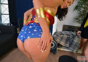 Spanking Veronica Works - Batgirl Spanks Wonder Woman - image 6