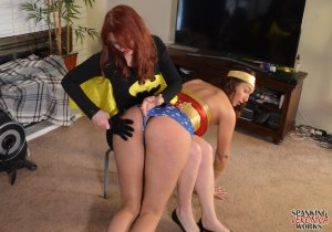 Spanking Veronica Works - Batgirl Spanks Wonder Woman - image 8