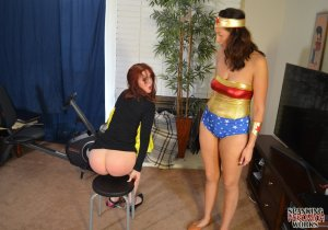 Spanking Veronica Works - Wonder Woman Spanks Batgirl - image 4