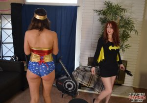 Spanking Veronica Works - Batgirl Spanks Wonder Woman - image 3