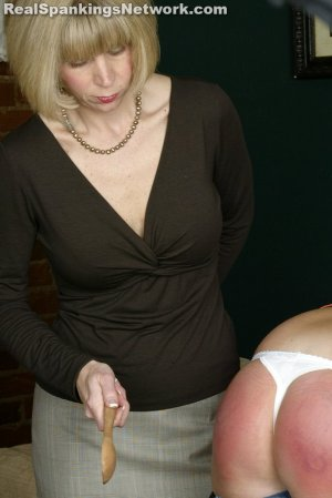Real Spankings - Riley: Spanked With The Wooden Spoon - image 5
